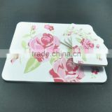 MDF table placemat and coaster set with flower picture                                                                         Quality Choice