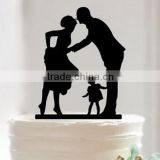 Silhouette Bride and Groom Mr & Mrs Wedding Acrylic Cake Topper Anniversary