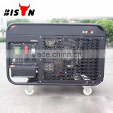 BISON(CHINA) 10kw Output Power Twin Cylinder Air Cooled Open Structure Portable Generator