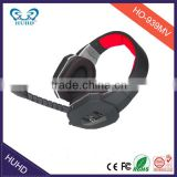 gaming headset with soft mesh cloth sweatproof headphone ear cushions