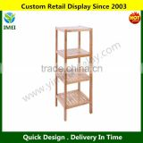 100% Natural Bamboo Bathroom Tower 4-Shelf Towel Storage Rack Shelving YM5-1184                                                                         Quality Choice