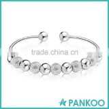 Fashion wholesale grade 925 silver 9 transfer beads bracelet