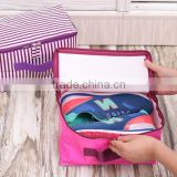 Custom living room high quality home foldable travel fabric storage shoe bag golf shoe bag with tote Handle
