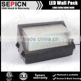 UL DLC certification 110V-277VAC 4000K IP65 Aluminum Full cutoff 30W 50w 80w led wall pack lights