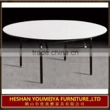 Hotel furniture folding banquet hall table, used round banquet tables for sale