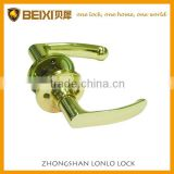 2016 Best Seller Zinc Alloy Polished Brass Finish Tubular Passage Door Locks And Handles