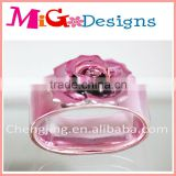 hot sales wholesale Ceramic Plated Flower Napkin Rings