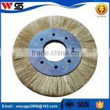 crimped wire circular steel wheel brush for cleaning pipe