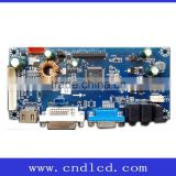 Full HD LCD Monitor main Mother Driver Controller AD AV board with HDM I DVI VGA & 4-way backlight Power supply