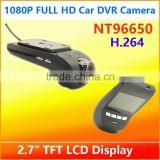China factory wholesale top quality FHD 1080P car DVR camera H264 video recorder with 2.7 inch TFT LCD display video registrator