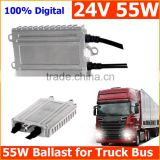 Factory wholesale Turck parts accessories blocks ignition HID ballast 24V 55W for truck and bus, less than 1% defective rate