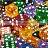 hot custom plastic games colorful dice/make own brand color dice/factory price dice made in China