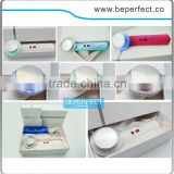 New desigh handheld 1Mhz ultrasonic and positive ion and negative and led blue green yellow light therapy beauty machine