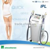FDA cleared skin tighten ,skin whitening , super hair removal Wrinkles reduction principle IPL machine