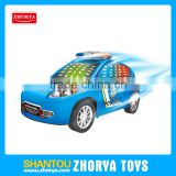 New design 3D children toy racing car bump and go battery operated police car with sound and light kids electric car toy