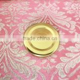 Gold Metal Screw Lid for Clear Glass Material Bottle/Jar