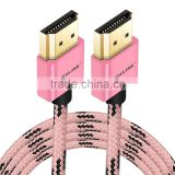 VOXLINK gift hdmi colorful cable,1m HDMI 1.4v 19 + 1 Gold Plated to HDMI 1080P 4K cable Male to male