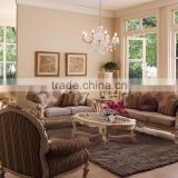 Luxury French Rococo Style Living Room Furniture Sofa Set/Antique Wood Carved Perfect color match Leisure Chair