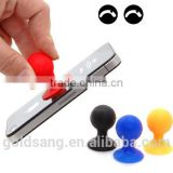 Novelty and fashion mobile phone holders / sucker cute ball shape silicone mobile phone holders