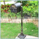 Outdoor Countryside Simple Structure Bronze Mailbox Sculpture