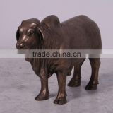 Animal garden statue bronze brahman bull sculpture for sale