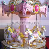 fiberglass mini amusement park carousel horses for sale