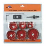 9pc Bi-metal hole saw (combined tools,tool sets,tools,)down light installation kit