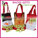 Top Quality Colorful Christmas Gift Bag Canvas Christmas Santa Sack In Stock