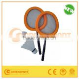 fabric big beach tennis racket for children with big shuttlecock and badminton shuttlecock
