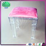 High Quality Customized Kids Pink Stool Acrylic Piano Stool Indoor Lucite Ottomans