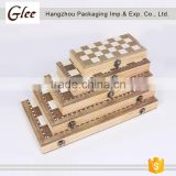 Promotional Gift 3 In 1 Wooden Checkers Backgammon Chess Sets