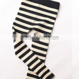 child kids gilrs black white gray lycra spandex cotton striped knit tights