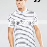 stripped polo t shirt for man in fashinable design