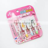New developed push cartoon classicial colored pattern decoration correction tape and 3 reill