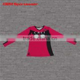 long sleeves sublimation sports volleyball shirts for women