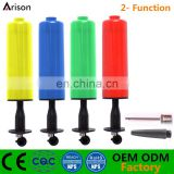 2 funcation small plastic hand pump with needle for inflatable ball hand pump for inflatable toys
