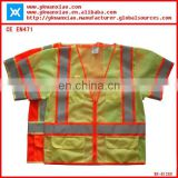 ANSI high visibility fluorescent mesh short sleeves reflective clothes,safety jackets