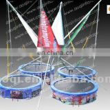 AOQI great attraction competitive price hot sale bungee trampoline for sale