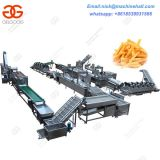 Full-automatic Frozen French Fries Processing Line|Factory Frozen French Fries Making Line