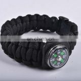 2013 adjustable braid hiking survival bracelet with strong shackle