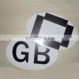 Export to UK GB plastic plate car magnet