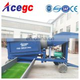 Mini mobile trommel screen gold washing and processing equipment