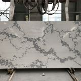 Artificial calacatta white quartz slabs