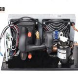 DC Condensing Unit with Evaporator in Refrigeration for Compact Water Cooled System