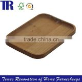Solid Wood Square Tray,Food Tray Plate,Natural Fruit Tray Plate