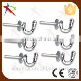 6x TIE BACK BALL END HOOK Screw In Curtain Rope Cord Tassel Holdback Holder