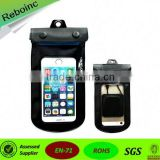 dry bag pvc material mobile phone waterproof bag with earphone jack for iPhone fishing rafting swimming