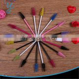 Wholesale Colorful of disposable Mascara Wands Brush with curved triangle shape