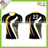 100% polyester custom rugby jersey new design custom rugby ball,south africa rugby jersey