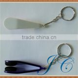 Portable mini eyeglass cleaner keychain for promotion